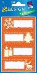 Etiketten 'Weihnachtsmotive' orange