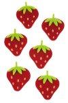 Filz-Sticker Erdbeere - 6er Pack