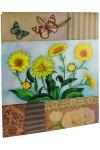 Geschenktasche Gartenblume gelb, 22,5 x 14 x 33 cm