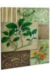 Geschenktasche Gartenblume grün, 22,5 x 14 x 33 cm