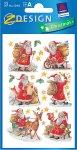 Deko-Aufkleber Weihnachtsmänner beglimmert
