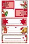 Weihnachtsetiketten Sterne, Pilze, Herz, Teddy