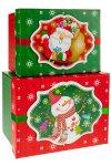 Geschenkboxen Schneemann und Weihnachtsmann - 2er Set