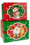 Geschenkboxen Weihnachtsmann und Schneemann - 2er Set