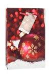 Geschenktasche Weihnachtskugel weinrot, 12 x 6 x 19 cm