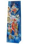 Flaschentasche Weihnachtsmann, 10 x 9 x 33 cm