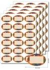 Etiketten oval Obstdekor -   5 Blatt A4