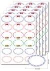 Etiketten oval Zierrahmen -   5 Blatt A4