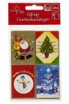 Geschenkaufkleber Weihnachtskarten - 15 Stück