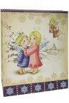 Geschenktüte Engel in Winterlandschaft, 27 x 14 x 33 cm