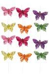 Schmetterlinge mit Drahthalter groß - 12er Set