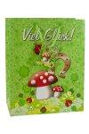 Geschenktüte Viel Glück - Wiese, 18,5 x 10,5 x 23 cm
