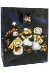 Geschenktasche Das Schneemann-Trio groß