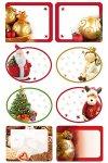 Weihnachtsetiketten Weihnachtsfiguren