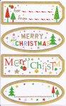 Weihnachtsetiketten Merry Christmas