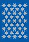 Schmucketiketten Sterne silber 14 mm