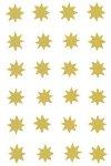 Weihnachtsetiketten Sterne gold 12 mm