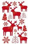 Weihnachtsetiketten Rentiere und Schneeflocken