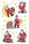 Weihnachtsetiketten Weihnachtsmänner mit Sack