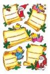 Weihnachtsetiketten Weihnachtsbriefe beglimmert