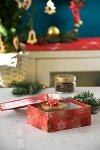 Geschenkboxen Eiskristalle rot - 2er Set