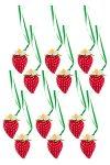 Erdbeeranhänger aus Stoff, 12er Pack