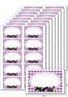 Etiketten 63 x 38 mm Früchte violett, 80 Stück, A5