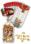 Kreuzbodenbeutel Ballon 100 x 220 mm, 10 Stück mit Clips
