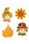 Deko-Aufkleber Herbst aus Holz - 4er Set