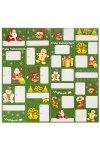 Geschenkaufkleber Frohe Weihnachten grün, 24 Stück