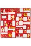 Geschenkaufkleber Frohe Weihnachten rot, 24 Stück