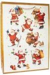 Geschenktasche Fröhliche Weihnachtsmänner, 25 x 8,5 x 35 cm