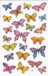 Deko-Aufkleber Bunte Schmetterlinge