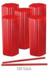 Trinkhalm 19 cm, Ø 7,7 mm, rot, 500 Stück