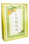 Geschenktasche Lemon, 25 x 8,5 x 34 cm