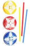 Trinkhalmdeckel SV 70 Kunststoff Batik bunt, 3er Set