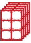 Cubi Etikettenbogen rot, 5 Blatt