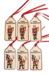Anhänger Frohe Weihnachten aus Holz - 6er Set