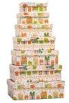 Geschenkbox-Set Weihnachtsgeschenke rechteckig, 7-teilig