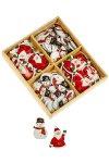 Metallsticker Schneemann und Weihnachtsmann - 96er Set