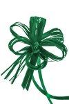 Ziehschleife Faser-Raffia ca. 80 mm, dunkelgrün, 10 Stück