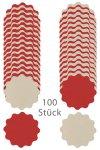Wende-Deckchen aus Folie Ø 170 mm, rot/creme, 100er Pack