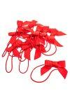 Elastische Schlaufen mit Schleife, rot, 10 Stück