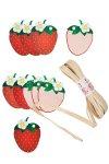 Anhänger Set Erdbeere, 11-teilig