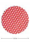 Vliesdeckchen Ø 135 mm rot gepunktet, 10 Stück