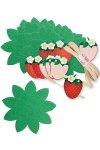 Blattdeckchen-Set Erdbeere 21-teilig