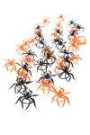 Deko-Spinnen schwarz/orange, 3,5 cm, 40er Set