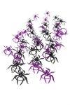 Deko-Spinnen schwarz/lila, 3,5 cm, 40er Set