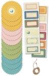 Deckchen Set Retro, Papier, 25-teilig