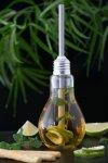 Trinkhalmglas Glühbirne 180 ml